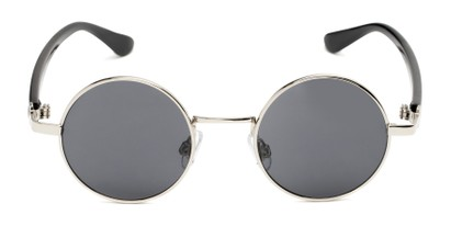 Front of Rounder #706 in Glossy Silver Frame with Grey Lenses