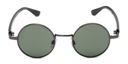 Front of Rounder #706 in Grey Frame with Green Lenses