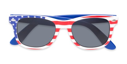 Folded of Rushmore #2058 in Red/White/Blue with Blue Temples