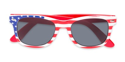 Folded of Rushmore #2058 in Red/White/Blue with Red Temples