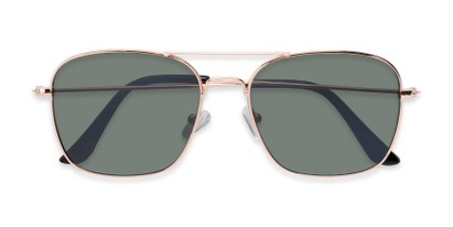 Folded of Russell #6235 in Gold Frame with Green Lenses