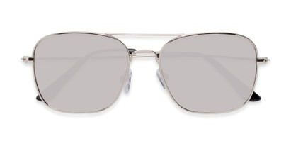 Folded of Russell #6235 in Silver Frame with Silver Mirrored Lenses