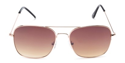 Front of Russell #6235 in Gold Frame with Amber Lenses