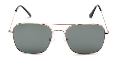 Front of Russell #6235 in Gold Frame with Green Lenses