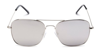 Front of Russell #6235 in Silver Frame with Silver Mirrored Lenses