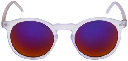 Round Sunglasses with Mirrored Lenses