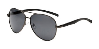 Angle of Aldgate in Grey Frame with Smoke Lenses, Men's Aviator Sunglasses