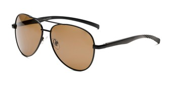 Angle of Aldgate in Black Frame with Amber Lenses, Men's Aviator Sunglasses