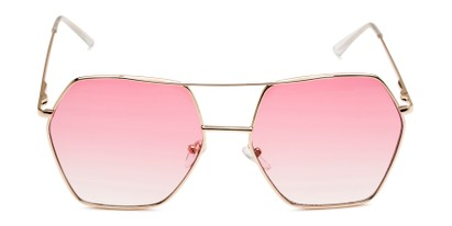 Front of Alice in Gold Frame with Pink Gradient Lenses