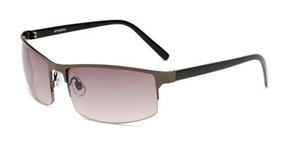 Angle of Andrew in Grey Frame with Amber Lenses, Men's Square Sunglasses