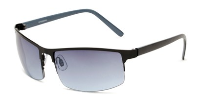 Angle of Andrew in Black Frame with Smoke Lenses, Men's Square Sunglasses