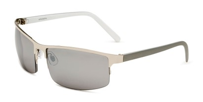Angle of Andrew in Silver Frame with Silver Mirrored Lenses, Men's Square Sunglasses