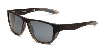 Angle of Brosef by Body Glove in Grey Fade Frame with Smoke Lenses, Men's Square Sunglasses