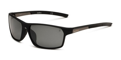 Angle of Enthusiast by IRONMAN Triathlon in Matte Black Frame with Smoke Lenses, Men's Square Sunglasses