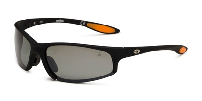Angle of Strong by IRONMAN Triathlon in Matte Black Frame with Silver Lenses, Men's Sport & Wrap-Around Sunglasses