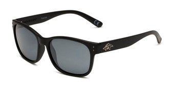 Angle of Vert by Anarchy in Black Frame with Smoke Lenses, Men's Retro Square Sunglasses