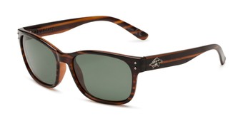 Angle of Vert by Anarchy in Tortoise Frame with Green Lenses, Men's Retro Square Sunglasses