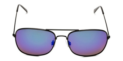 Front of Aspen in Black Frame with Green/Purple Mirrored Lenses