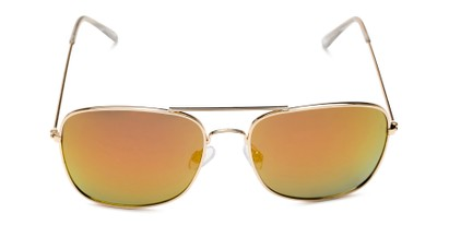 Front of Aspen in Gold Frame with Red/Orange Mirrored Lenses