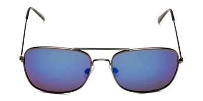 Front of Aspen in Grey Frame with Blue Mirrored Lenses