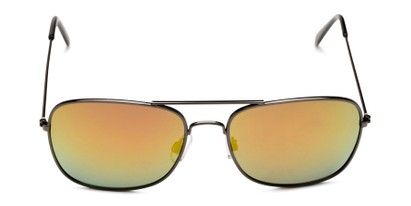 Front of Aspen in Grey Frame with Red/Orange Mirrored Lenses