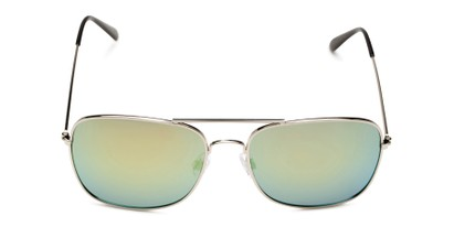 Front of Aspen in Silver Frame with Yellow/Blue Mirrored Lenses