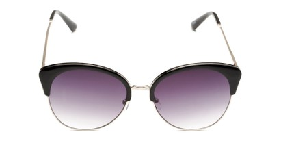 Front of Aubrey  in Black/Silver Frame with Smoke Gradient Lenses