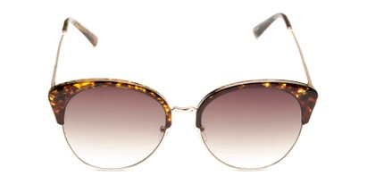 Front of Aubrey  in Tortoise/Gold Frame with Amber Gradient Lenses