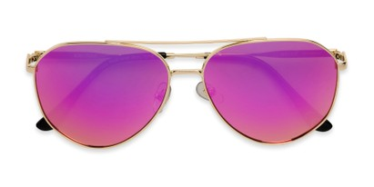 Folded of BGL 1903 by Body Glove in Gold Frame with Pink Mirrored Lenses