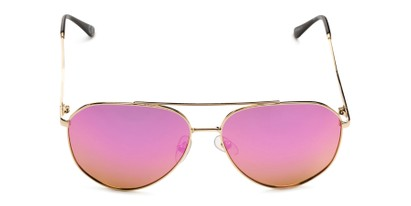 Front of BGL 1903 by Body Glove in Gold Frame with Pink Mirrored Lenses