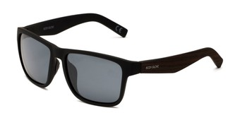 Angle of BGM 2011 by Body Glove in Black Frame with Smoke Lenses, Men's Square Sunglasses