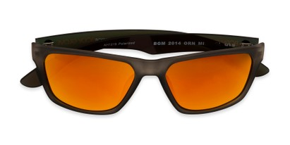 Folded of BGM 2014 by Body Glove in Grey/Yellow Frame with Orange Mirrored Lenses