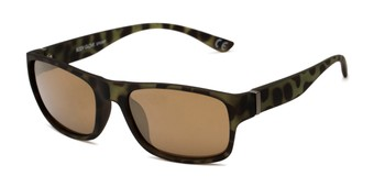 Angle of BGSPT 2002 by Body Glove in Dark Green/Brown Tortoise Frame with Brown Lenses, Men's Rectangle Sunglasses