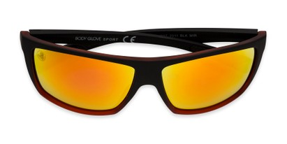Folded of BGSPT 2011 by Body Glove in Matte Black/Red Frame with Red Mirrored Lenses