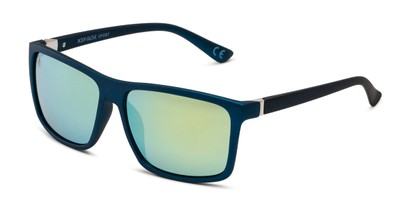 Angle of BGSPT 2016 by Body Glove in Blue Frame with Yellow/Green Mirrored Lenses, Men's Square Sunglasses