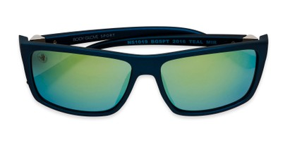 Folded of BGSPT 2016 by Body Glove in Blue Frame with Yellow/Green Mirrored Lenses
