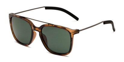 Angle of BGSPT 2018 by Body Glove in Glossy Tortoise Frame with Green Lenses, Men's Aviator Sunglasses
