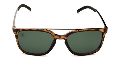 Front of BGSPT 2018 by Body Glove in Glossy Tortoise Frame with Green Lenses