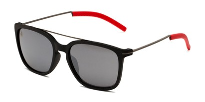 Angle of BGSPT 2018 by Body Glove in Black/Red Frame with Smoke Lenses, Men's Aviator Sunglasses