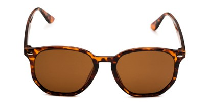 Front of Beckett in Tortoise Frame with Amber Lenses