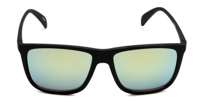 Front of Bensley in Black Frame with Yellow/Blue Lenses