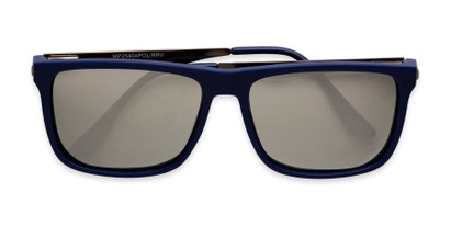 Folded of Bermuda  in Blue Frame with Silver Mirrored Lenses