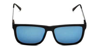 Front of Bermuda  in Black Frame with Blue Mirrored Lenses