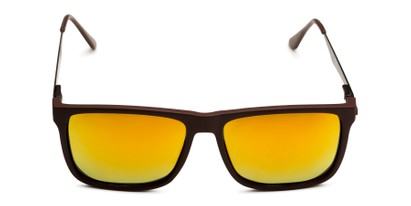 Front of Bermuda  in Brown Frame with Red/Orange Mirrored Lenses