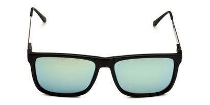 Front of Bermuda  in Black Frame with Green Mirrored Lenses