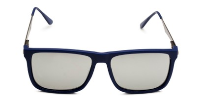 Front of Bermuda  in Blue Frame with Silver Mirrored Lenses