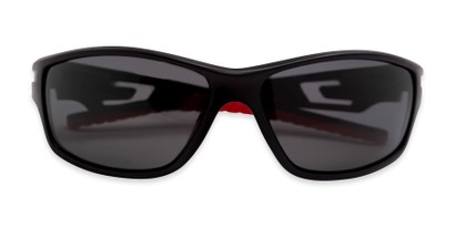 Folded of Burton in Black/Red Frame with Smoke Lenses