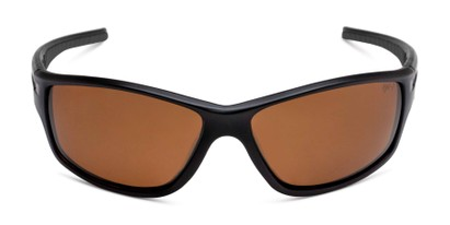 Front of Burton in Black Frame with Amber Lenses