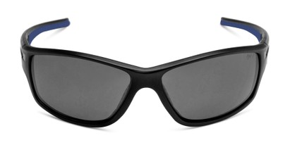 Front of Burton in Black/Blue Frame with Smoke Lenses