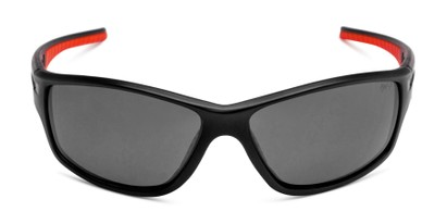 Front of Burton in Black/Red Frame with Smoke Lenses